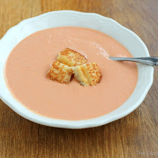 Beach Bar Tomato Soup & Grilled Cheese Croutons