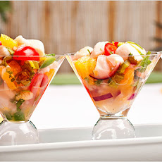 Shrimp and Scallop Ceviche with Tequila