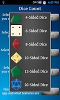Screenshot of Dice Replacement