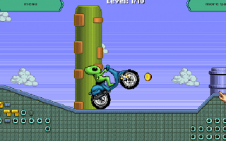 Screenshot of Alien Space Moto - Racing Game