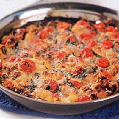 Tomato, Garlic, and Potato Frittata