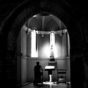 Prayer by Iulia Breuer - Public Holidays Christmas ( prayer, man, chappel,  )