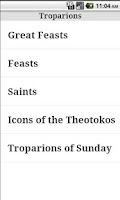Screenshot of English Orthodox Troparions