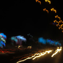 CANON SKETCH by Gobinath S K - Abstract Light Painting ( lights, canon, orange, light painting, blue, colors, street, long exposure, road, roadside, street lights, street photography, orange. color,  )