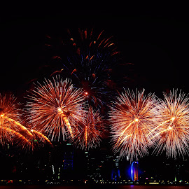 Fireworks in Doha by Elmer Magdosa - News & Events Entertainment ( doha, fireworks, qatar )
