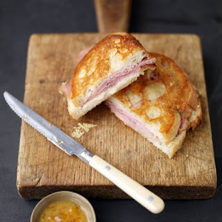 Ham-and-Manchego Panini with Dipping Sauce