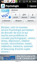Screenshot of Psychologie : Questions & Aide