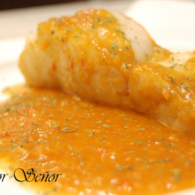 Hake with an Anchovy Vegetable Sauce