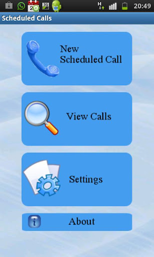 Scheduled calls