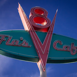 Flo's V8 Cafe by Nicole Nichols - City,  Street & Park  Amusement Parks ( california adventure, radiator springs, disneyland, flos )