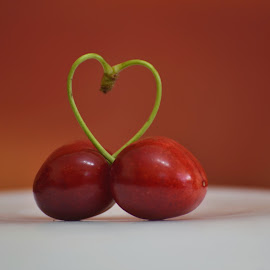 lovers by Iulian Cahul - Food & Drink Fruits & Vegetables ( love, cherry, lovers, red, bokeh,  )
