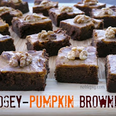 Fudgey-Pumpkin Brownies
