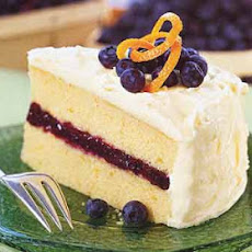 Blueberry and Orange Layer Cake with Cream Cheese Frosting