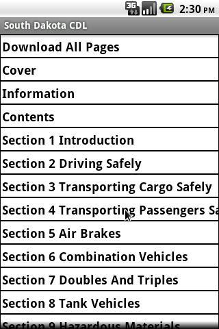 South Dakota CDL Manual
