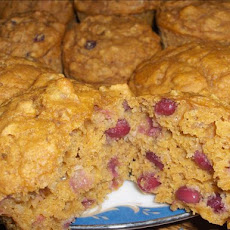 Healthy Pumpkin Pomegranate Muffins