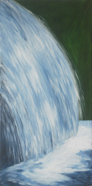 Waterfalls #1 <br> Acrylic paint on canvas <br>  40 x 18 in