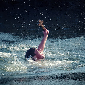Epiphany by Lazar Jovanovic - People Professional People ( srbija, rzav, arilje, epiphany, swimming, river )
