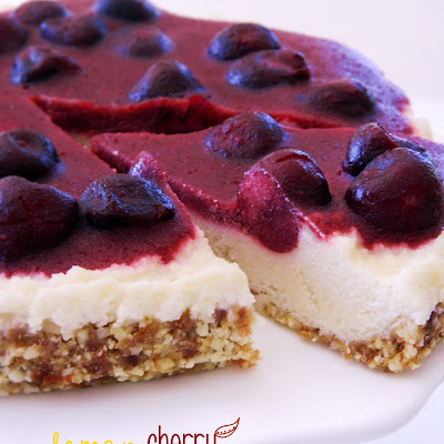 Lemon Cherry Cheesecake