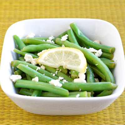 Green Beans with Lemon and Feta Cheese