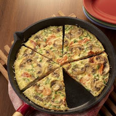 Mushroom and Smoked Salmon Frittata