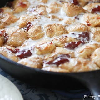Peanut Butter and Jelly Skillet Monkey Bread