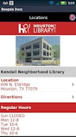 Screenshot of Houston Public Library Mobile