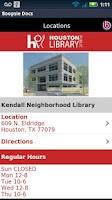 Screenshot of Houston Public Library Mobile