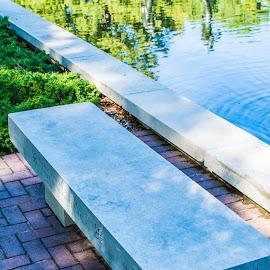 by Matt Meyers - City,  Street & Park  City Parks ( st louis, bench, garden, missouri botanical garden )