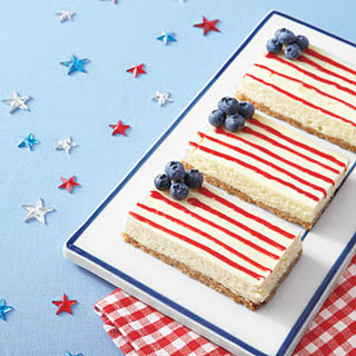 American Flag Cheesecake Bars