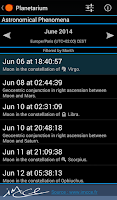 Screenshot of Planetarium for SmartWatch