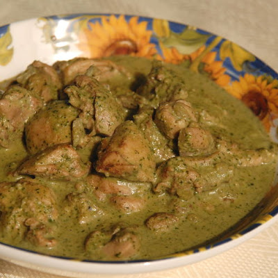 Chicken With Cilantro-mint Sauce
