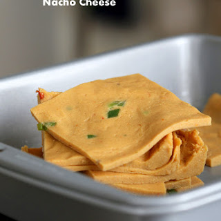 Nut Free Vegan Nacho Cheese Slices. Gluten-free