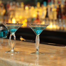 BLUE MARTINIS by Jose Mata - Food & Drink Alcohol & Drinks