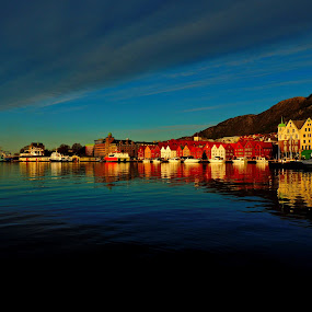 Bergen by Inna Cleanbergen - City,  Street & Park  Historic Districts ( hordaland, berge, norway )