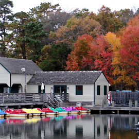 The Boathouse by Gary Ambessi - Transportation Boats