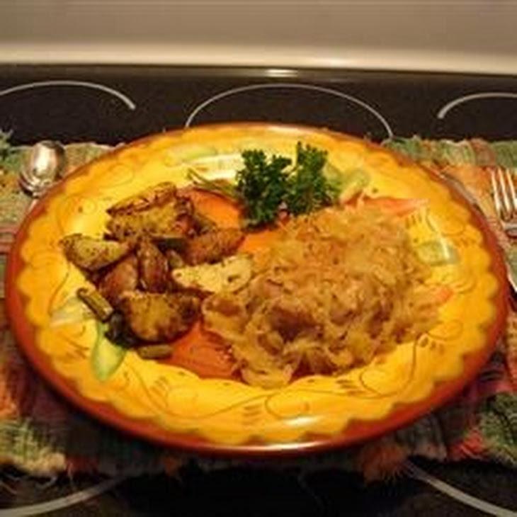 Pork Chops And Sauerkraut Recipe — Dishmaps