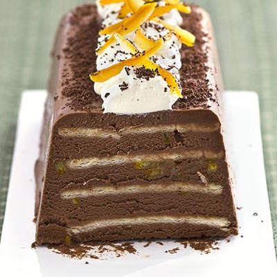 Chocolate orange & Grand Marnier truffle cake