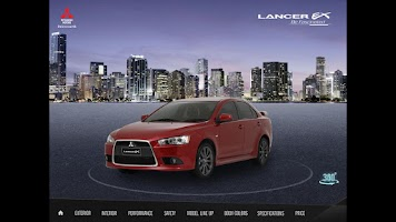 Screenshot of Lancer EX e-Catalog