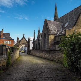 Go to the light by Jack Brittain - Buildings & Architecture Places of Worship ( uk, england, church, cityscape, knaresborough, cobblestone )