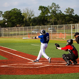 Sweet Swing by Charlie Brooks - Sports & Fitness Baseball ( first base, catcher, umpire, baseball, leftie, home plate, premier baseball of texas,  )