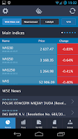 Screenshot of Warsaw Stock Exchange