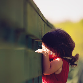 bridge by Beth Marky - Babies & Children Children Candids ( red, girl, green, red dress, light )
