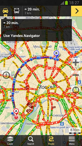 yandex-maps for android screenshot