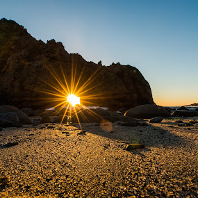 Christmas Day Sunset in Big Sur by George Krieger - Landscapes Beaches