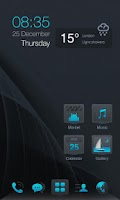 Screenshot of Dark Blue GO LauncherEX Theme
