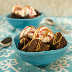 Peanut Butter & Jelly Brownie Sundaes
