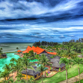 Landscape view from 5stars Hotel 'The Empire Hotel & Country Club' by Zaren Hag - Landscapes Travel ( #brunei #hotel #5stars #beach #sky #landscape )