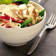 Warm Chicken Noodle Salad