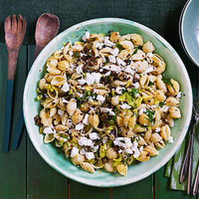 Shells with Olives & Ricotta Salata