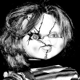 Chucky Lives by Debbie Deboo - Artistic Objects Toys ( scary, doll, chucky, horror, halloween )